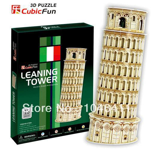 Leaning Tower CubicFun 3D educational puzzle Paper & EPS Model Papercraft Home Adornment for christmas gift series s 3d puzzle paper diy papercraft double decker bus eiffel tower titanic tower bridge empire state building