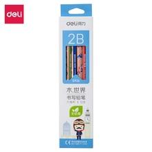 DELI Graphite Pencils for School Cute Pencil 2B HB 1 Box(12PCS) Drawing Pencil Set Pencils for Kids S925 S926 недорого