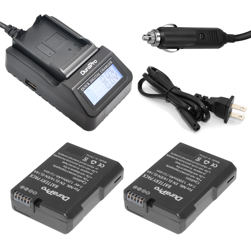 2pc EN-EL14 EN EL14 EL14A Rechargeable Battery+LCD Fast Charger for Nikon P7800,P7700,P7100,D5600,D5500,D5300,D3400,D3300,D3200 2pcs en el14 en el14a battery lcd usb charger for nikon p7100 p7700 p7800 d3400 d3100 d3200 d3300 d5100 d5200 d5500 d5600
