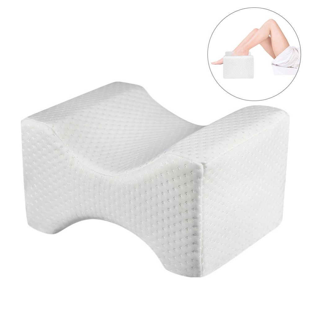 Memory Foam Wedge Contour Sleeping Knee Pillow For Side