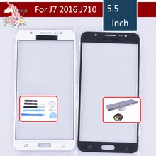 10pcs/lot For Samsung Galaxy J7 2016 J710F J710FN Outer Glass Top/Front Lens Front Screen Cover (Without digitizer) Touch