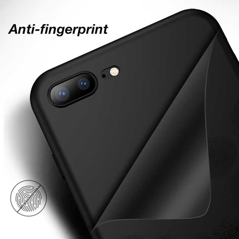 Dla iPhone XS Max przypadku XR 7 8 Plus 6 6 s X 5 5S SE XsMax Anti-Fingerprint przezroczysta pokrywa matowy cukierki kolor silikon TPU Case