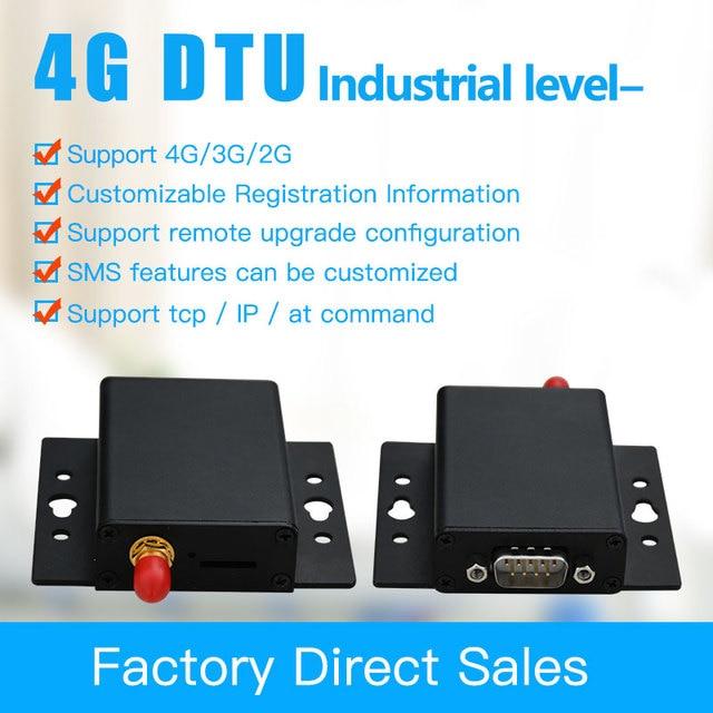 4G DTU compatible avec GPRS/3G GSM Modem données Transmission transparente RS485 et 232 équipement de terminal de données sans fil 4G DTU