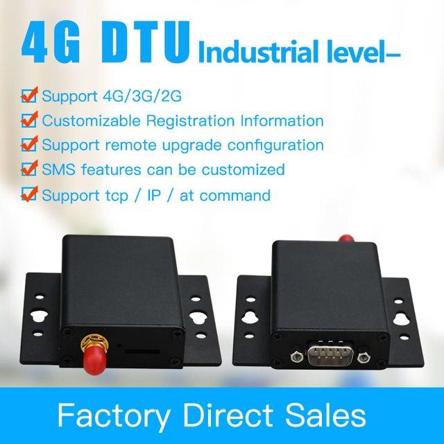 4G DTU compatible with GPRS/3G GSM Modem Data Transparent Transmission RS485&232 wireless data terminal equipment 4G DTU
