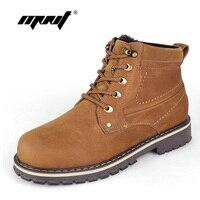 Full Grain Leather Men Boots Handmade Men Ankle Boots Super Warm Snow Boots Plus Size Waterproof