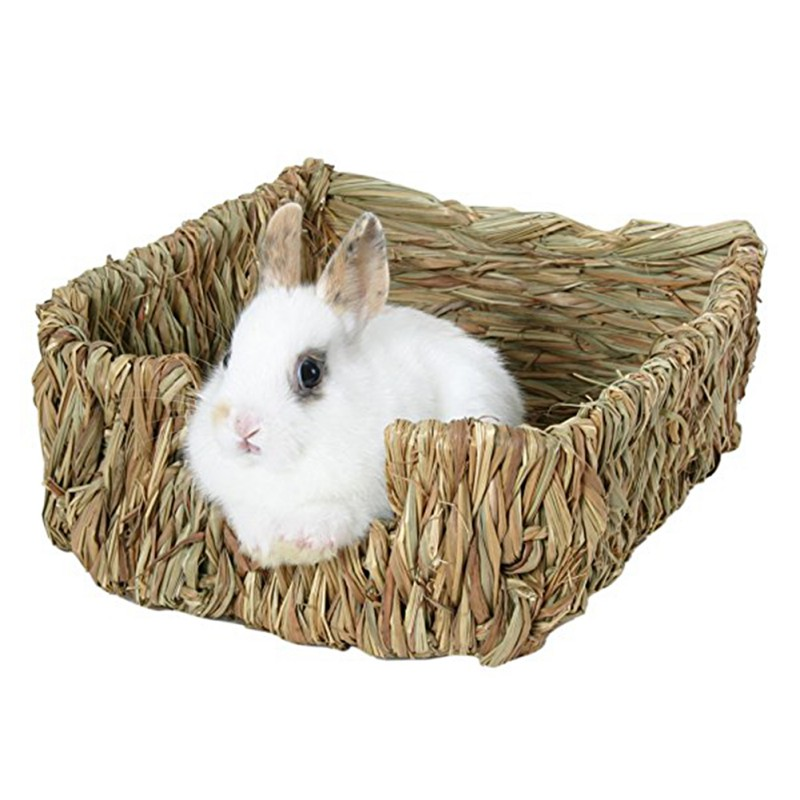 23*18*8.5cmatural Bed And Grassest For Guinea Pigs Chinchillas And Rabbits Small Pets Hamster Chew Toys Mice Bed