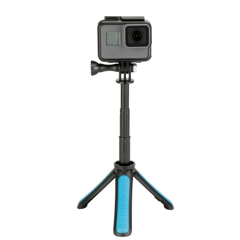 Portable Tripod Handheld Mini Table Tripod Mount Extendable Selfie Stick Monopod Fit for Gopro YI Hero 6 5 4 3 SJCAM  dropship