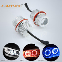 2 x 120W 4000LM LED HEADLIGHT ANGEL EYES BULB MARKER ERROR FREE Canbus For BMW E87 E60 E63 E65 E66 X5 E53 E39
