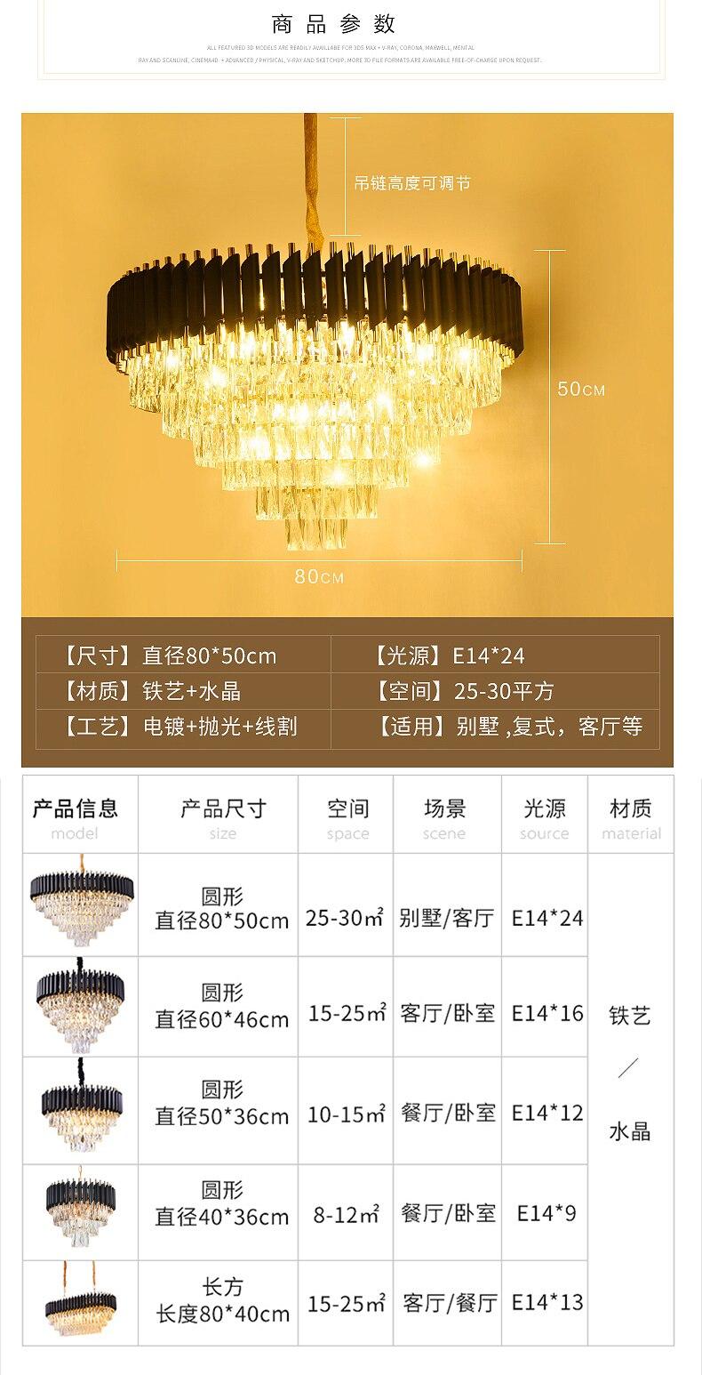 HTB1ZSRPbsnrK1RjSspkq6yuvXXaJ 2019 New Arrival Modern Crystal Pendant Lights 220V nordic light lamparas de techo colgante moderna for Living room parlor study