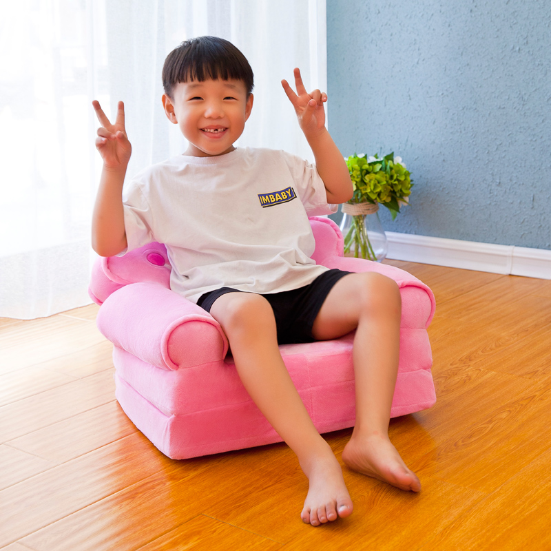 Louis Fashion Children Sofa Folding Cartoon Cute Lazy Person Lying Seat Baby Stool Kindergarten Can Be Disassembled Washed #2
