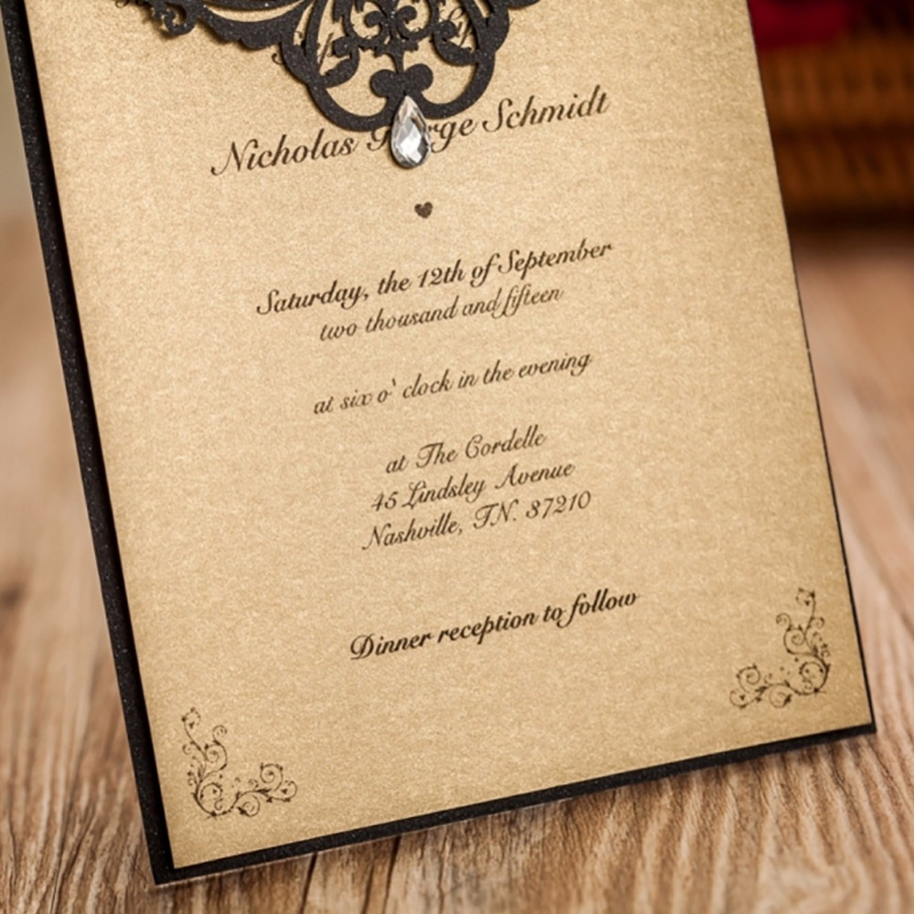 25pcs Laser cut Lace Wedding Invitations Card Pearl Paper Craft ...