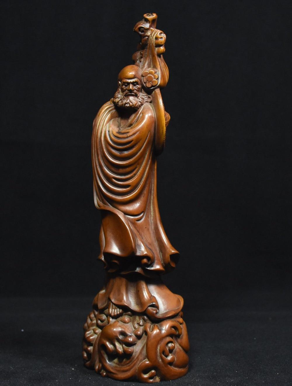 christmas Chinese Buddhism Boxwood Wood Carved Arhat Damo Bodhidharma Dharma Buddha Statue halloweenchristmas Chinese Buddhism Boxwood Wood Carved Arhat Damo Bodhidharma Dharma Buddha Statue halloween