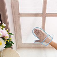 Hand - sand window curtain dust cleaning gloves household cleaning cloth