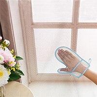 Mano de arena ventana cortina de polvo de limpieza paño de limpieza del hogar