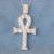 9.5 Carat elegante / genuina pesado 9 K oro blanco cruz colgante collar, joyería fina