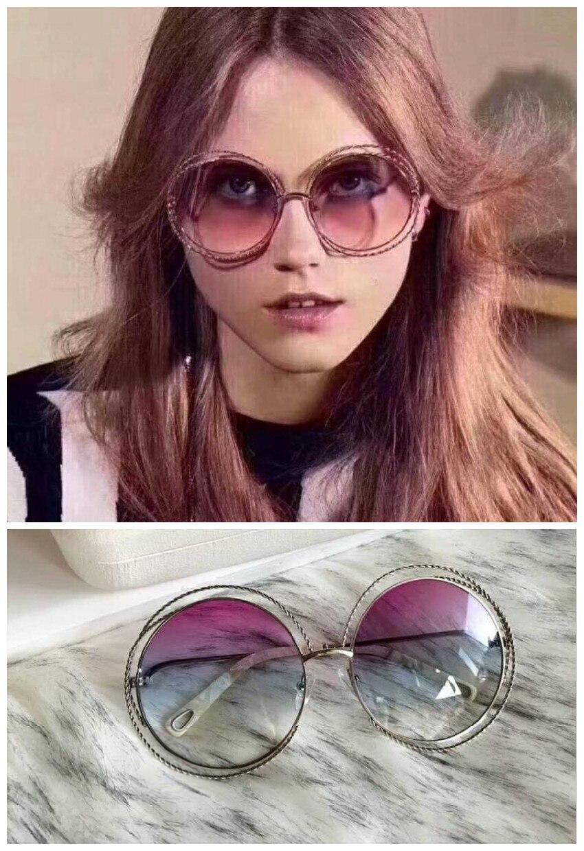 LKK Women's fashion sunglasses Vintage hemp flower round sunglasses luxury brand women's sunglasses
