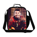 C Ronaldo lunch cooler bag characters thermal lunch bag for boy,inner cooler insulated lunch container,Crossbody Lunch Box bag