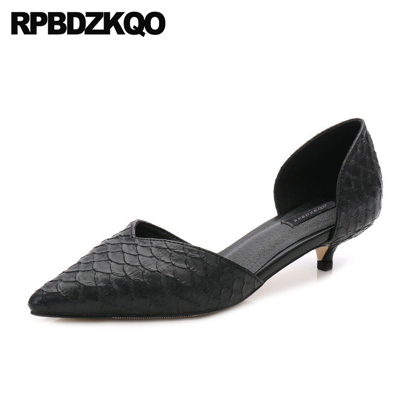 Size 4 34 Low Heels Bridal Shoes Medium Women High Kitten Red Pumps Snakeskin Evening Sandals 2018 Black Snake Cool Pointed Toe pointed toe slip on high heels strappy 2017 chic size 4 34 black ladies kitten sandals medium fashion low summer shoes slingback page 7
