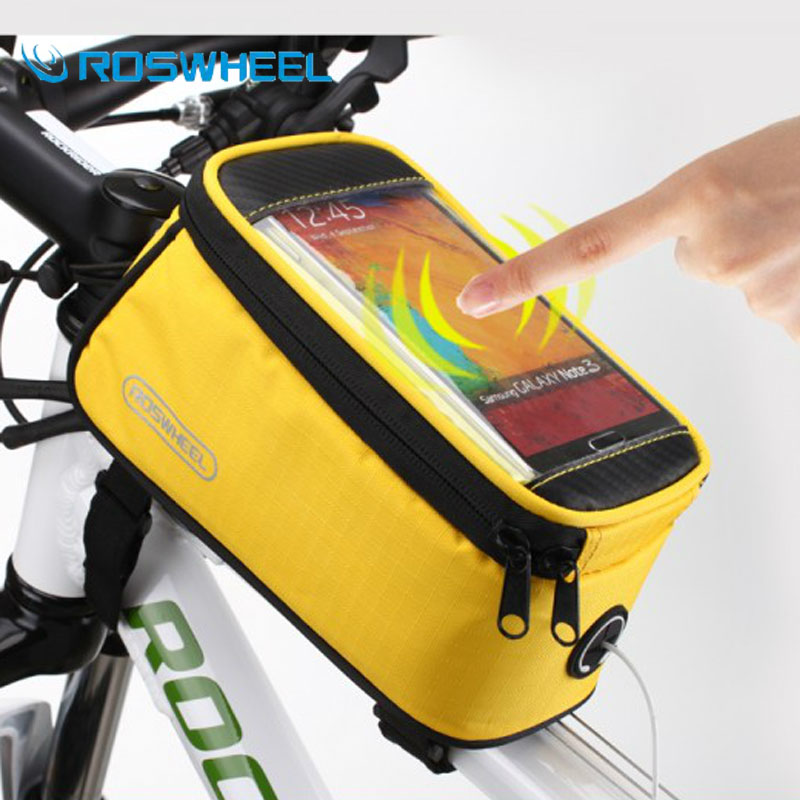 Bicycle Front Bag Frame Triangle Bag Cycling Bike Tube Pouch Holder Saddle Panni