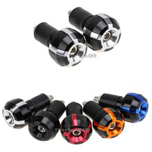 "1 Pair 7/8"" 22mm CNC Motorcycle Handlebar Grips Ends Plug For Suzuki GSXR 600 750 1000 BMW F800R 1000RR C600 R1200GS C650 KTM"
