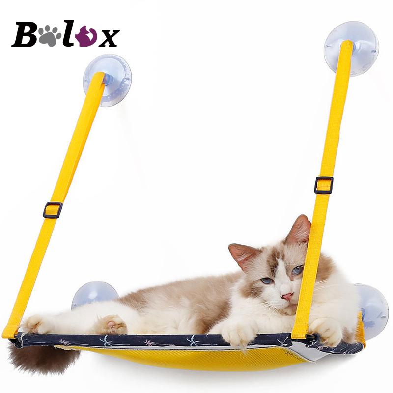 BOLUX Hot Sale Cat Hammock Bed Mount Window Pod Lounger Suction Cups Warm  Bed For Pet Cat Soft And Comfortable Ferret Cage