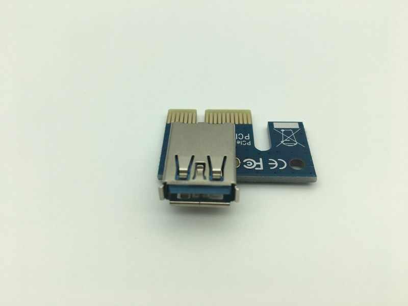 Yükseltici Kartı PCI-E 1X to 16X Grafik Uzatma Kablosu Madencilik Genişletilmiş Hat USB 3.0 PCI ekspres kart BTC Madencilik için Dropshipping