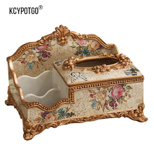 European multifunctional Resin tissue box and Home living room retro luxury napkin storage