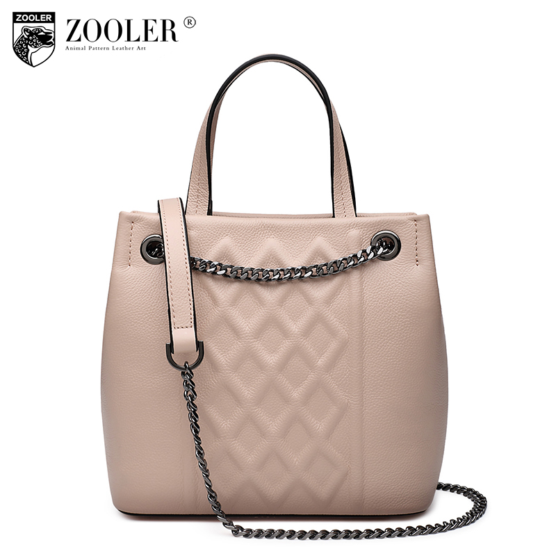 ZOOLER Genuine leather bag for women shoulder bag elegant designer cowhide leather handbag bag women cross body bag#3689 2016 new fashion cross body bag genuine leather brand handbag soft shoulder bag designer chain high quality bag for women