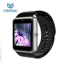 Smart watch gt08 uhr mit sim einbauschlitz push-nachricht bluetooth-konnektivität android telefon besser als dz09 smartwatch