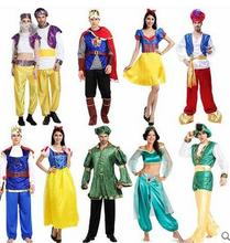 Performance Arab Costume Carnival Halloween Costumes Adult Mens Aladdin Lamp Priest Greece Costume Fancy Cosplay Princess Dress