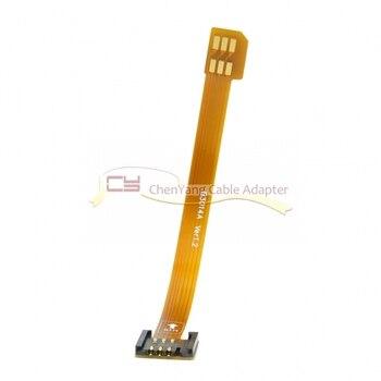 100pcs/3G 4G Micro SIM Card Kit Male to Standard UIM SIM Female Extension Soft Flat FPC Cable Extender 10cm