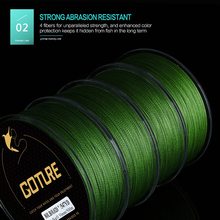 Goture Brand Braided Fishing Line 500M 547YD 4 stands Multifilament Fishing Line Japan Cord Line 8-80LB