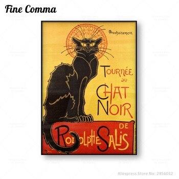 Tournee du Chat Noir Theophile Alexandre Steinlen Le Chat Noir El Gato Negro lienzo de impresión póster de pared arte de la decoración del hogar arte de la imagen