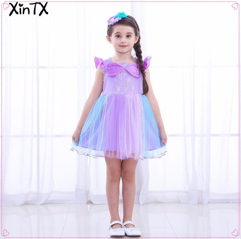 Sofia Princess Dress Kids Cosplay Costumes Girls New Arrival: 2018 New!Cute Kids Girls Dress Sofia Princess Dress Summer
