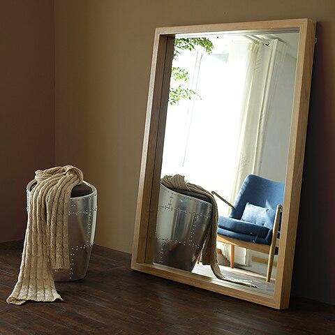 yidai thuis vloer volledige lengte dressing spiegel slaapkamer muur spiegel vierkante hout spiegel ikea