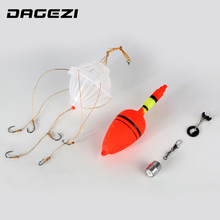 DAGEZI #9-#13 Silver Carp Fishing Float Bobber Sea Monster with Six Robust Explosion Hooks Fishing Deal with field