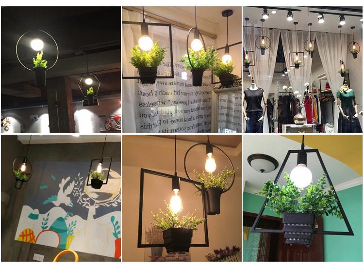 US $24.5 30% OFF|Kreative Moderne Einfache Blumentopf Anhänger Lichter  Schwarz Schmiedeeisen Blumentopf Hängen Lampe Bar Restaurant Cafe Home  Decor-in ...