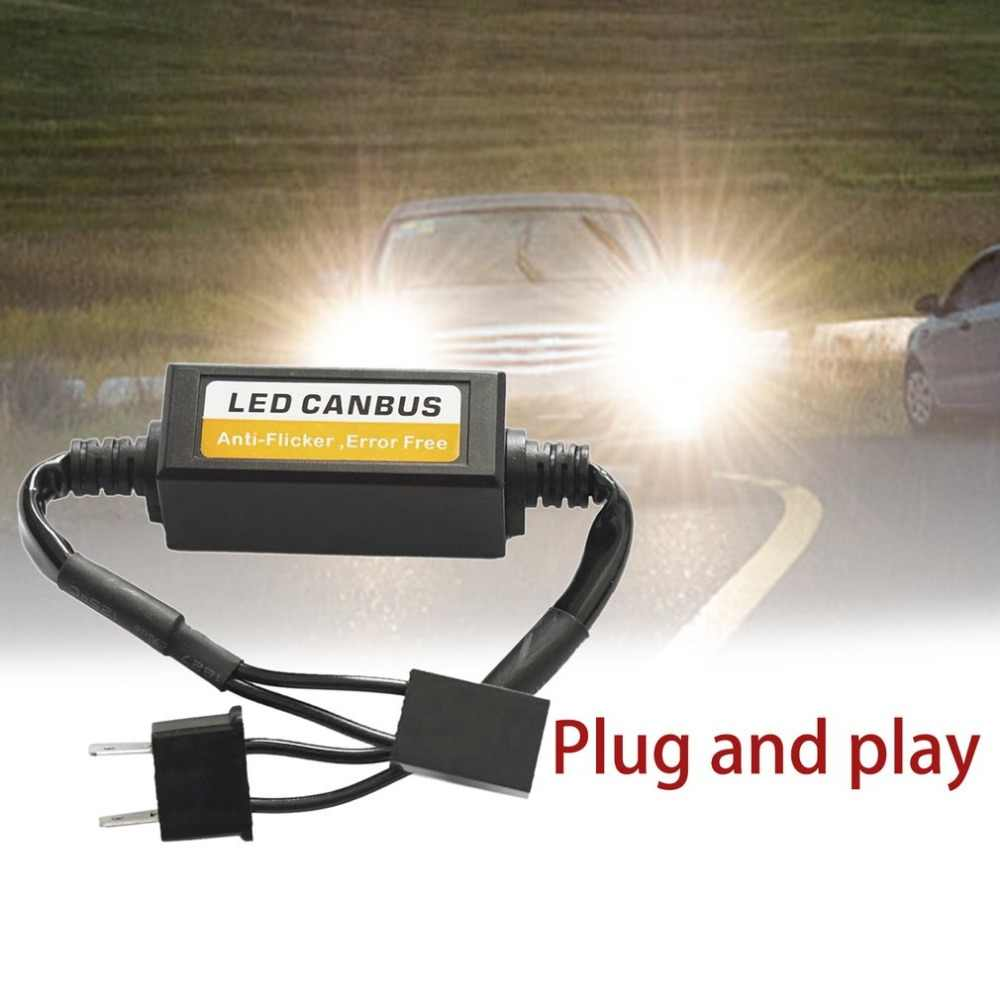 1 st 9-36 v H7 LED Decoder Anti Flicker Auto Koplamp Adapter Fout Gratis LED Canbus Koplamp Decoder canceller Auto Levert Hot