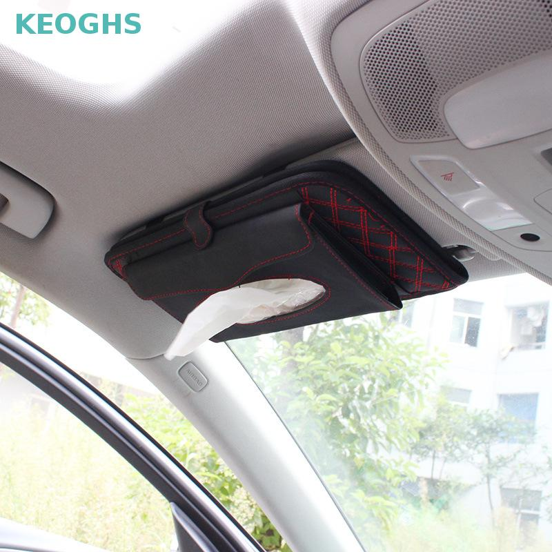 2017 Car Sun Visor Tissue Bag Multi Function Double deck Auto Extra Car  Vehicle Pocket CD Holder Visor With Tissue Holder-in Stowing Tidying from  ... 18f81dab413