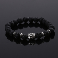 2015 Fashion Jewelry Natural Stone Buddha Beads Bracelet Men Elastic Rope Chain Charm Bracelet For Women