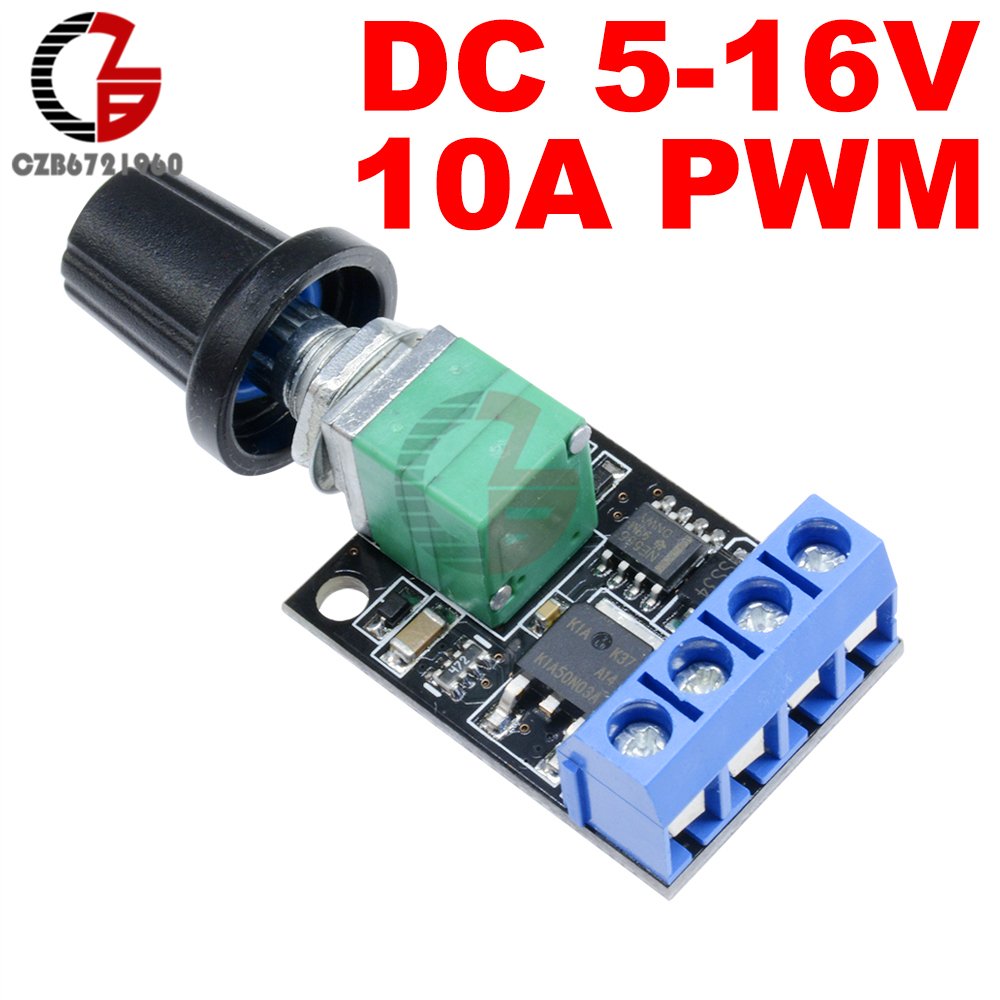 5V 12V 10A PWM DC Motor Speed Controller Governor Stepless Speed Regulator LED Dimmer Speed Control for Home LED Light Control