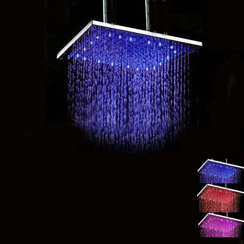 Vehhe Combination Vip Link Best Sale Led Temperature Control Faucet Aerator Shower Head Colorful Top Spray Shower Equipment