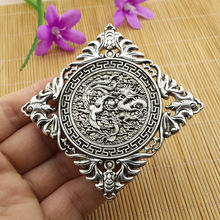 China handmade antique Tibetan silver dragon Phoenix Pendant Car ornament Statue