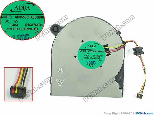 ADDA AB05505HX050B00 01CWZSX00 Server Laptop Fan DC5V 0.40A 4-wire free shipping for sunon eg50040v1 c06c s9a dc 5v 2 00w 8 wire 8 pin server laptop fan
