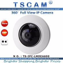TSCAM 2016 new IPC LMDEA600 360Degree 6MP Full View Fisheye IP Camera Support POE SD Card