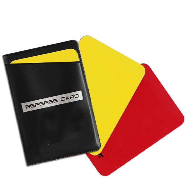 High Quality Pro Football Soccer Game Match Referee Card Umpire Judge Red Yellow Cards