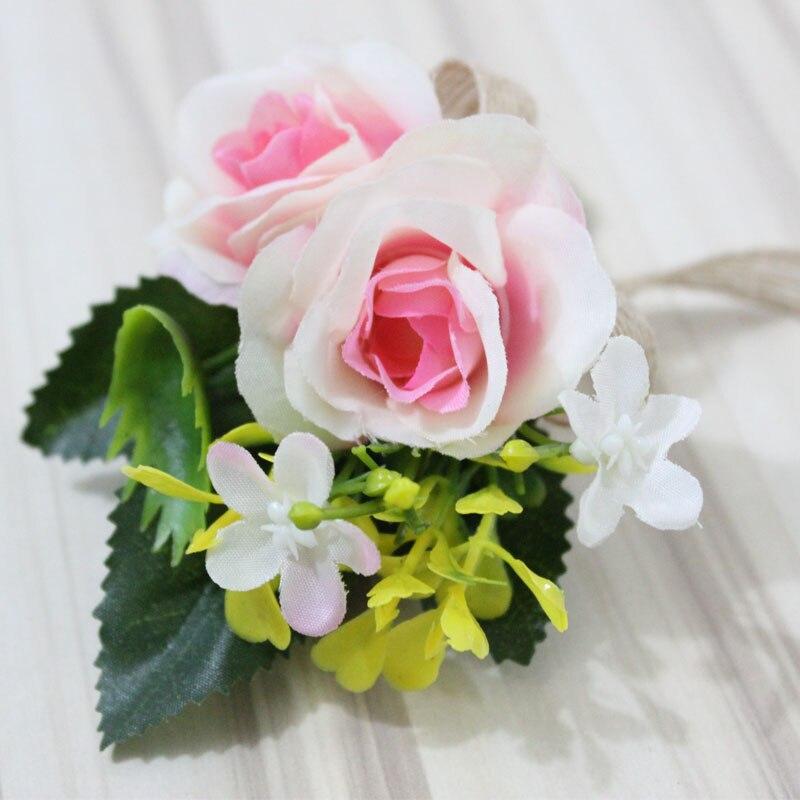 Pink Artificial Flower Buttonholes Groom Boutonniere Best Man ...