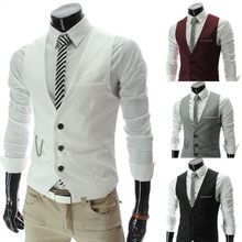 2016 gilet de costume man suit cotton vests for men formal waistcoat wedding gray casual dress white blazer black red business