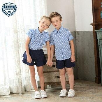 8c8ad44ed Trajes escolares de verano para niños, niños, niñas, uniformes escolares,  suéter 2