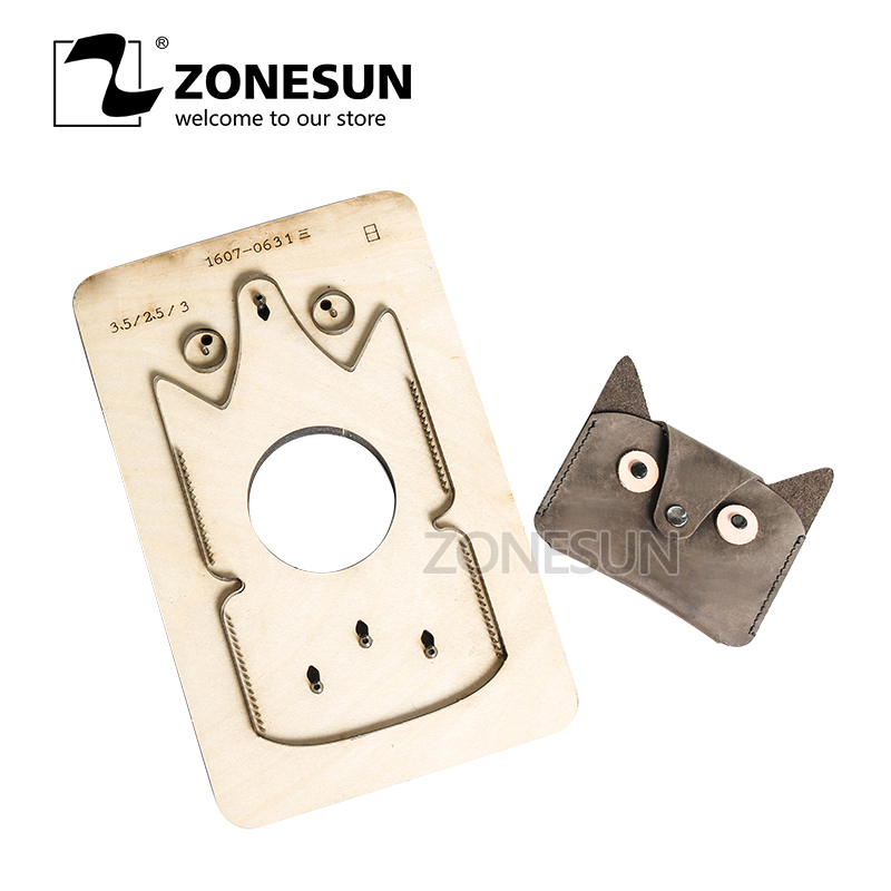 ZONESUN Home DIY Leather Wallet Cutting Patterns Die Hard Steel Knife Laser Punch die With Handmade Screwing HoleZONESUN Home DIY Leather Wallet Cutting Patterns Die Hard Steel Knife Laser Punch die With Handmade Screwing Hole